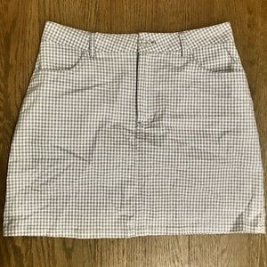 Like new f21 size S blue and white checkered skirt